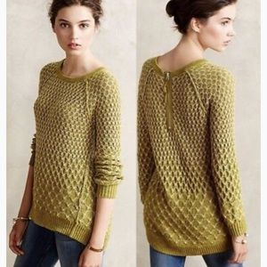 Anthropologie Sweaters - Anthropologie moth orange circle sweater medium